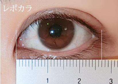 目のサイズの測り方